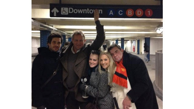 The Cast of Downton Abbey Gets Cheeky in the NYC Subway