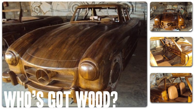 This Amazing Full-Size Mercedes-Benz Is Made Entirely Out Of Wood