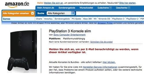 German PS3 Slim Listing Now Has Picture [Update]