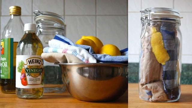 Make Your Own Lemon Dusting Cloths