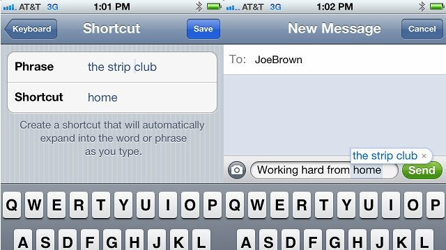 iOS 5 Shortcut Feature Enables A Hilarious Prank