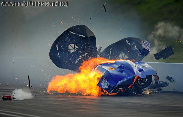 Here Are A Bunch Of Photos Of A Fiery NHRA Crash