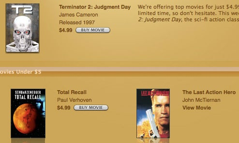 iTunes Store Debuts Discount Movies and Albums