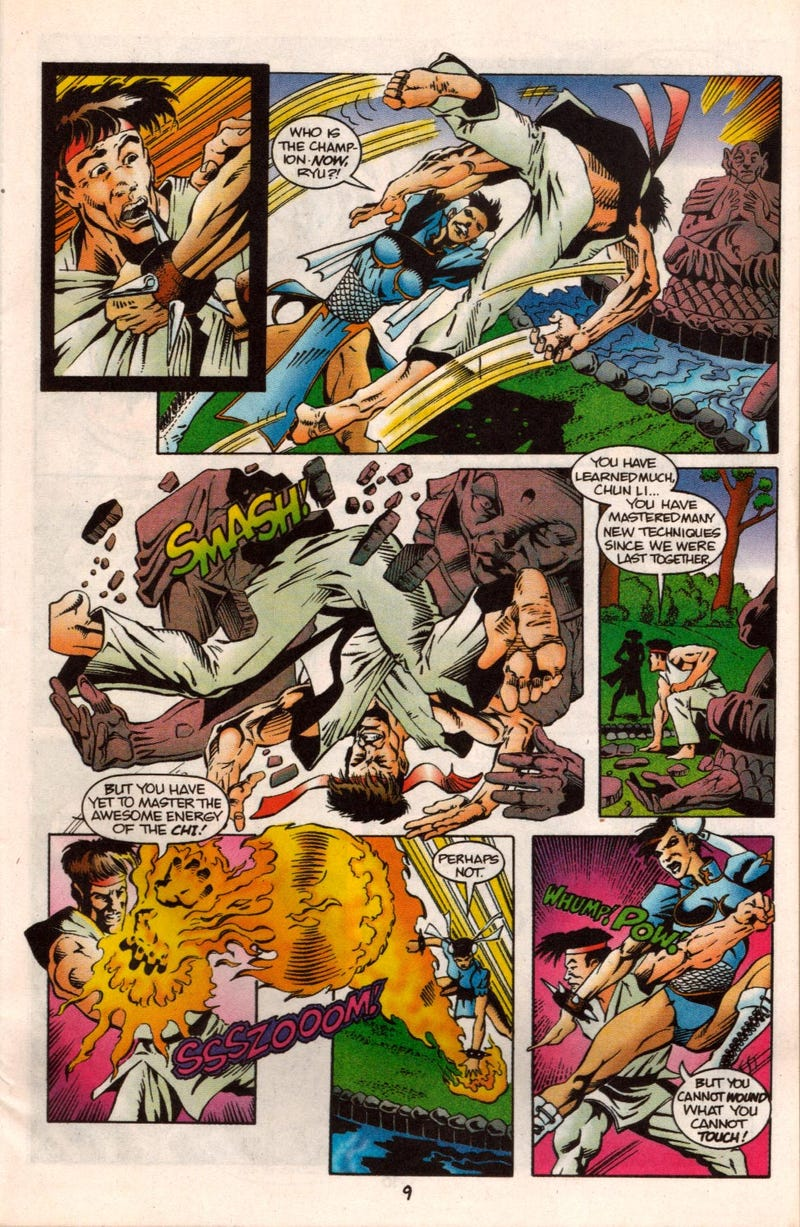 Let's Share The Horror of a Bizarre 1993 Street Fighter II Comic