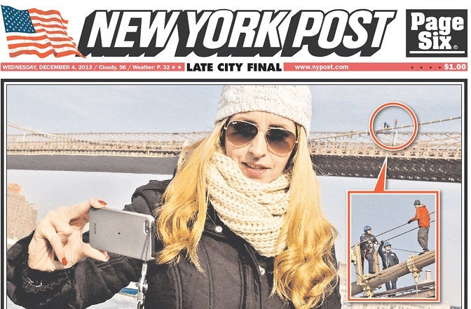 Woman's 'Selfish' Selfie Lands Her on the Cover of the New York Post