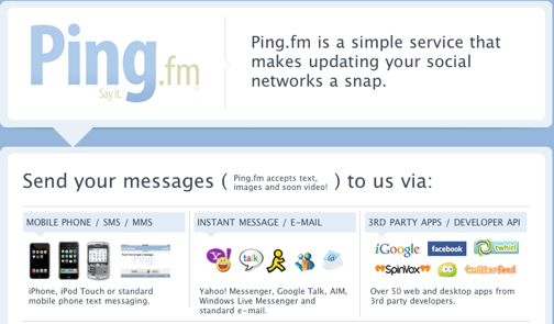 Ping.fm Updates All of Your Social Networks from One Place