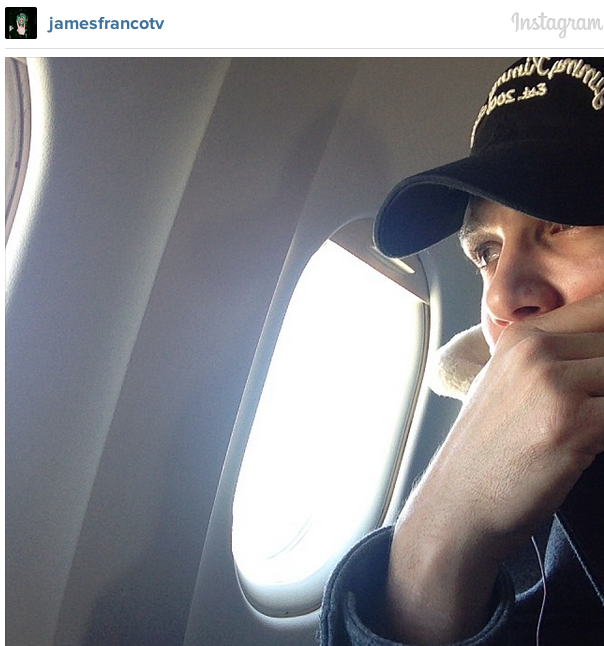 James Franco Is Among Those Stuck on a Plane at LAX Right Now