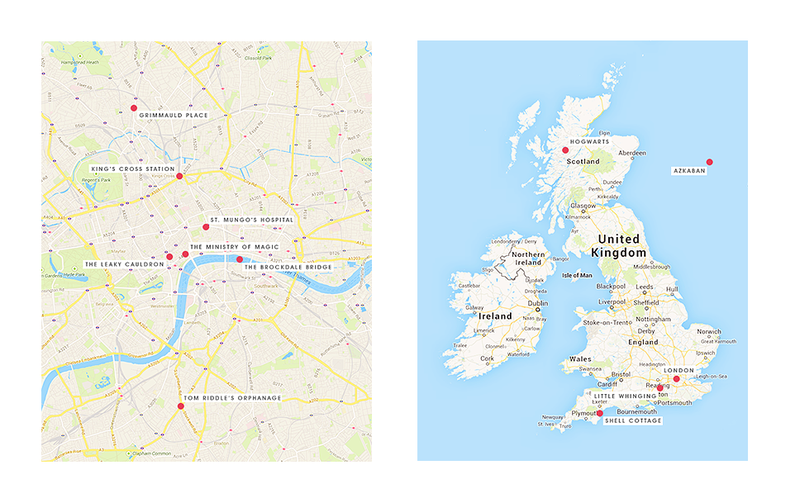 Where in the UK is the world of Harry Potter?