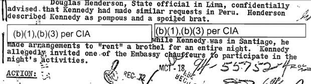 FBI Memo: Ted Kennedy Rented an Entire Chilean Brothel