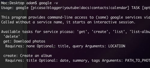 Five Really Handy Google Command Line Tricks