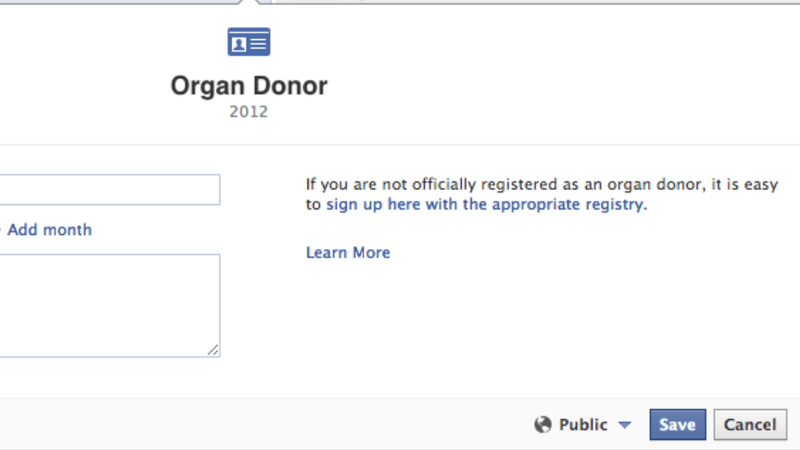Would You Share Your Organs on Facebook?