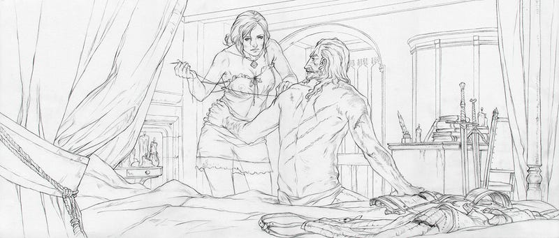the beautiful sketches behind the witcher 3 u0026 39 s ending