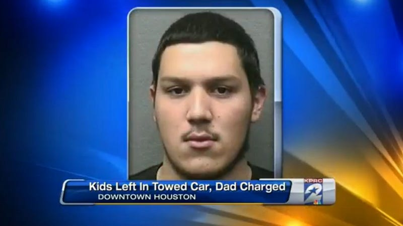 Texas Man Leaves Kids in Car, Returns to Find They've Been Towed Away