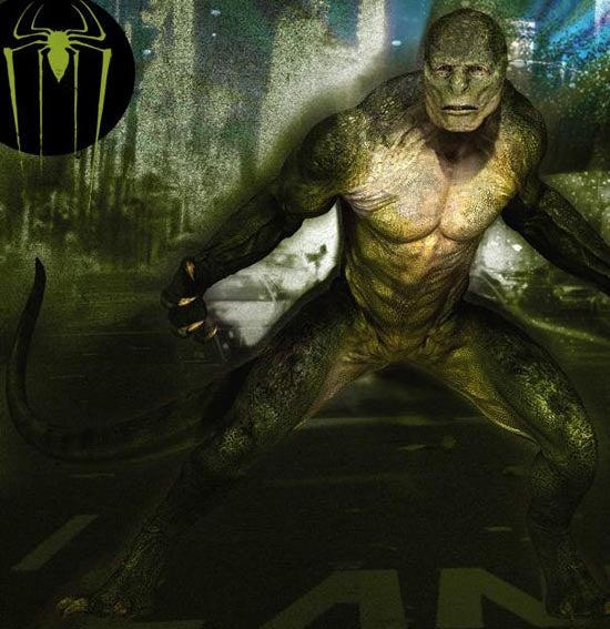 Amazing Spider-Man concept art shows an uncomfortable amount of the Lizard's anatomy