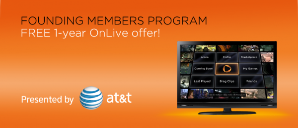 OnLive Streaming Game Service Launches, First Year Free