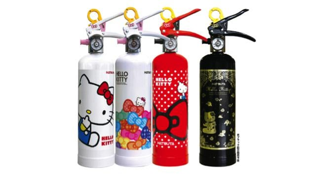 Hello Kitty Fire Extinguishers Exist in Japan. No, Really.