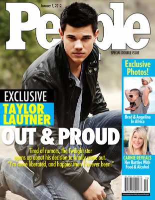 Sorry, Taylor Lautner Did Not Come Out on the Cover of People