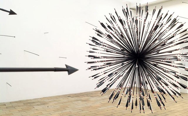 This Sculpture Would Result From 200 Arrows Hitting One Target