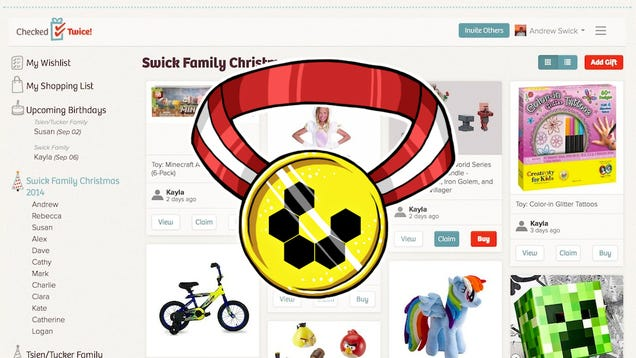 Most Popular Gift Registry Site: CheckedTwice