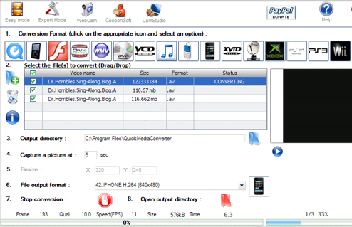 Quick Media Converter Converts Audio or Video to Any Format