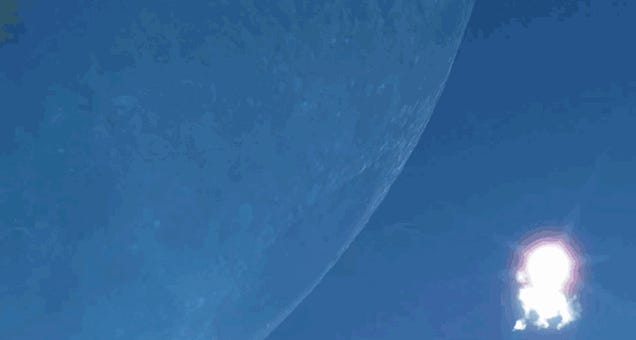 What if the Moon was as close as the International Space Station?