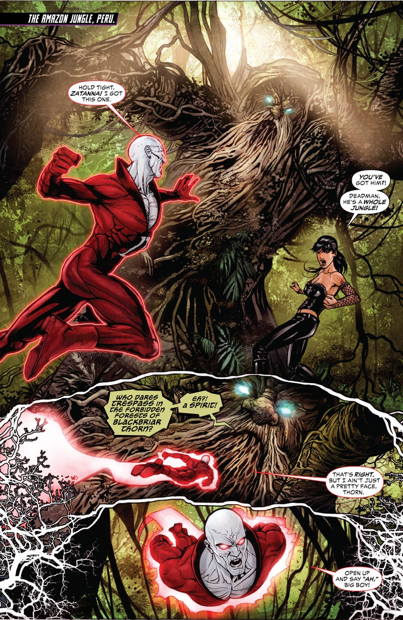 A sneak peek at next week's issue of Justice League Dark