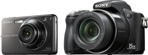 Sony Performance Cyber-shots Come in Small (W300) and Large (H50)