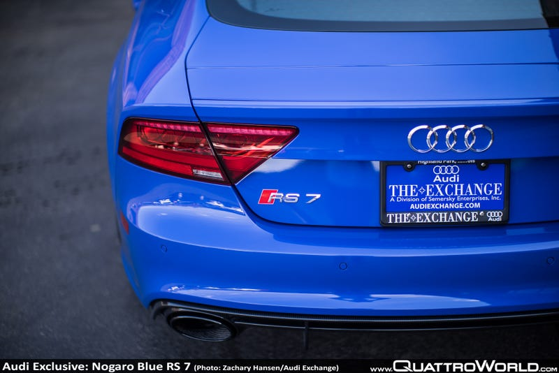 Exclusive Nogaro Blue Audi RS 7