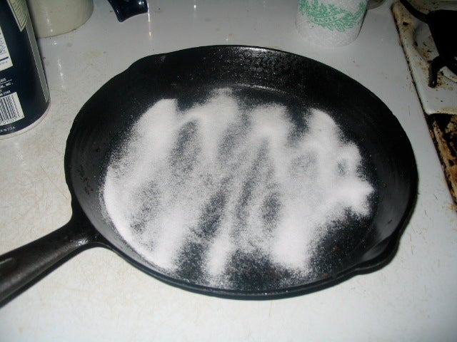 Clean Cast Iron and Carbon Steel Cookware with a Salt Scrub