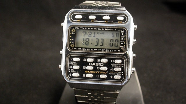 The Straight-Up Nerdiest Calculator Watch on the Planet Earth