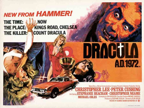 Classic Hammer Films poster art will rock you into the year one million!