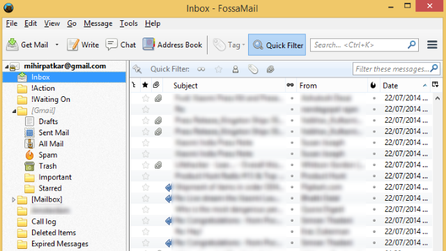 FossaMail is a 64-bit Optimized, Faster Thunderbird Clone for Windows