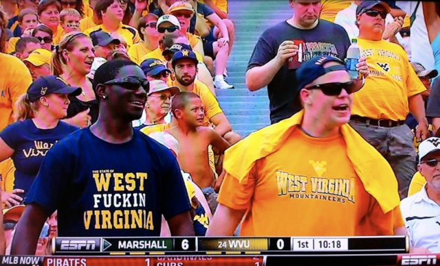 "West Virginia Athletics Requests That Students Refrain From Wearing ""West Fuckin Virginia"" T-Shirts"