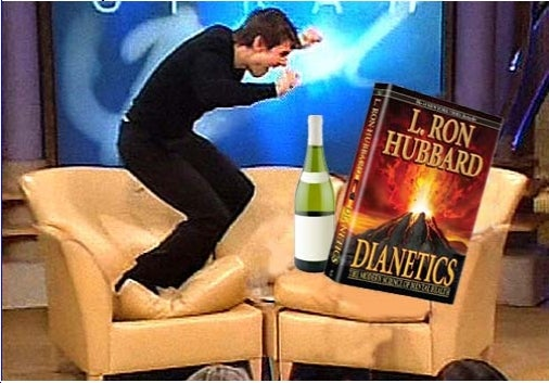 Tom Cruise Controls Books and Bottles with His Mind