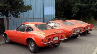 Street Parked: Three Orange Opel GTs