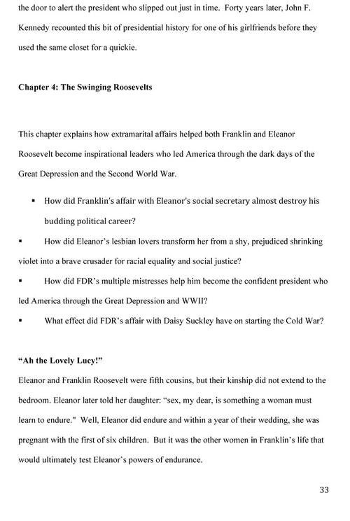 The Book Proposal for Larry Flynt's History of Presidential Sex - Gallery