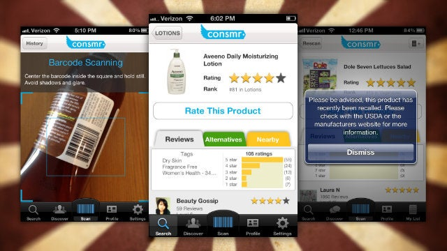 Consmr for iPhone Brings Product Reviews, Ratings, and Recalls Into the Grocery Store With You