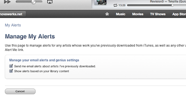 Tell iTunes to Notify You of New Releases by Your Favorite Artists