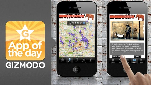 Banksy-Locations for iPhone Shows You Where Banksy Art Is So You Can Pretend to Be Cultured