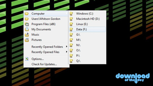 Chameleon Folder Accesses Your Favorite and Recent Folders with a Middle Mouse Click