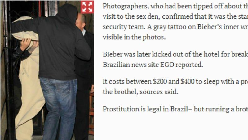 Justin Bieber Caught Leaving Brazilian Brothel