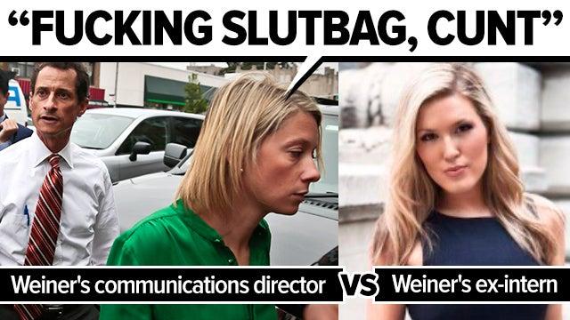 "Anthony Weiner's communications director calls ex-intern ""slutbag"""