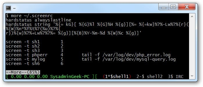 How to Run Multiple Applications in a Single Terminal Window