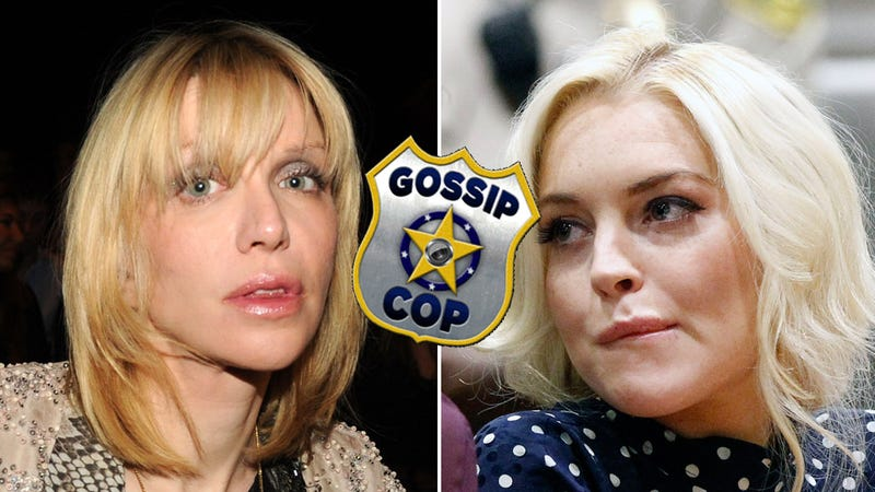 Lohan Denies Vile Courtney Love Sober Coach Rumor