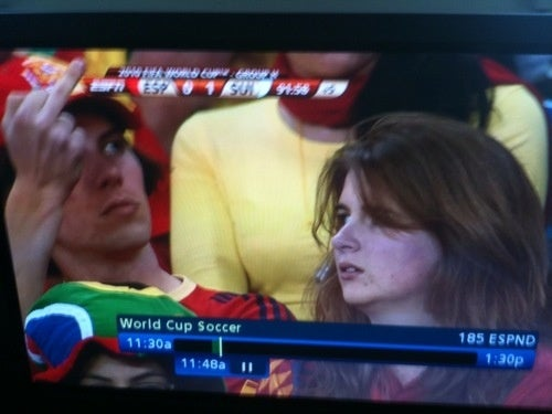 "Sad Spanish Fan Gives The Universal Gesture For ""We Lost To The Freaking Swiss By One Goal"""