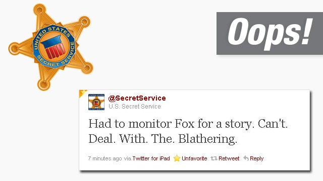 Secret Service Official Twitter Account Bashes Fox News