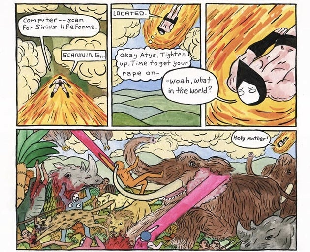 The webcomic Forming recounts the origin of civilization with aliens, gods, and dick jokes