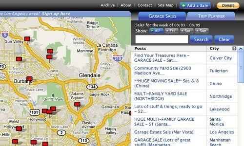 Gsalr Finds Garage Sales and Plans an Effective Route
