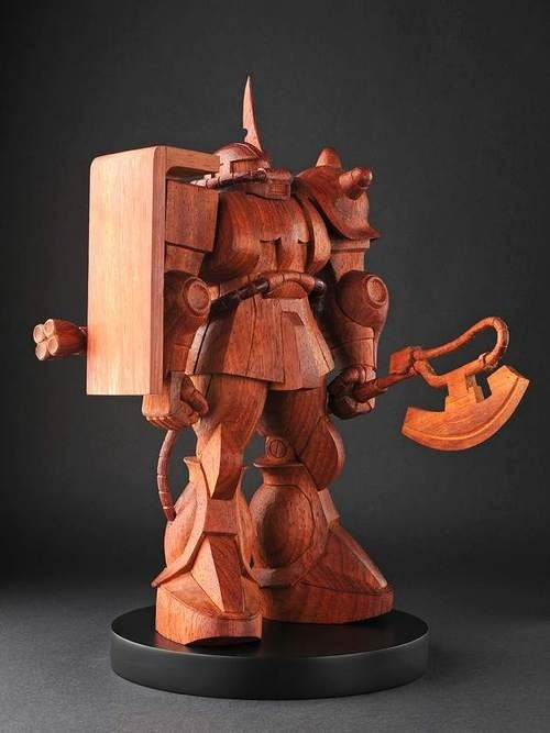 The Thousand Dollar Wooden Gundam Statue