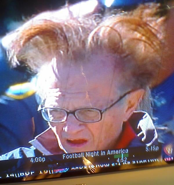 Larry King's Temper Rears Its Ugly Shoulder Blades